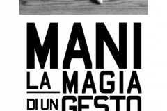 Locandina Mostra MANI 33X95cm